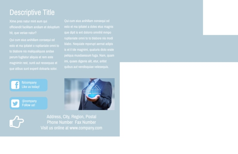 Reliable Property Management Postcard Template Preview 3