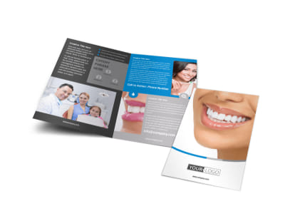 Dentistry & Dental Office Bi-Fold Brochure Template preview