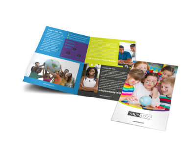 Speech Therapy Bi-Fold Brochure Template preview