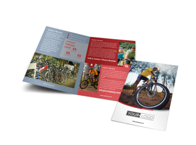 Bike Repair Shop Bi-Fold Brochure Template preview