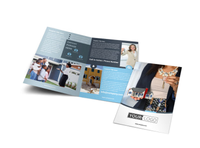 Reliable Property Management Bi-Fold Brochure Template preview