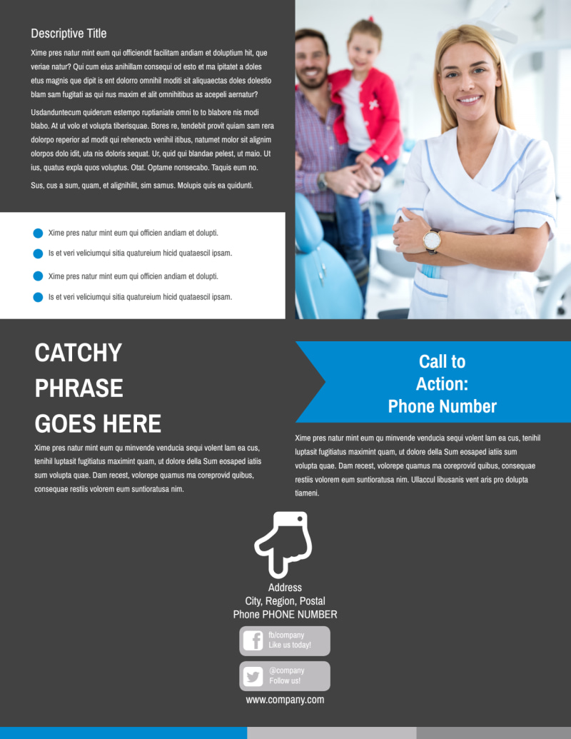 Clean Dental Care Flyer Template Preview 3