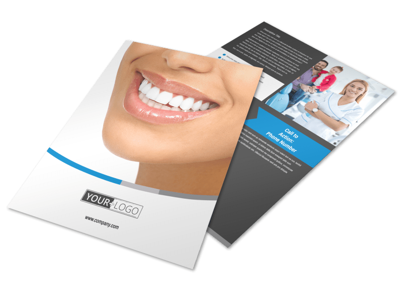 Clean Dental Care Flyer Template Preview 1