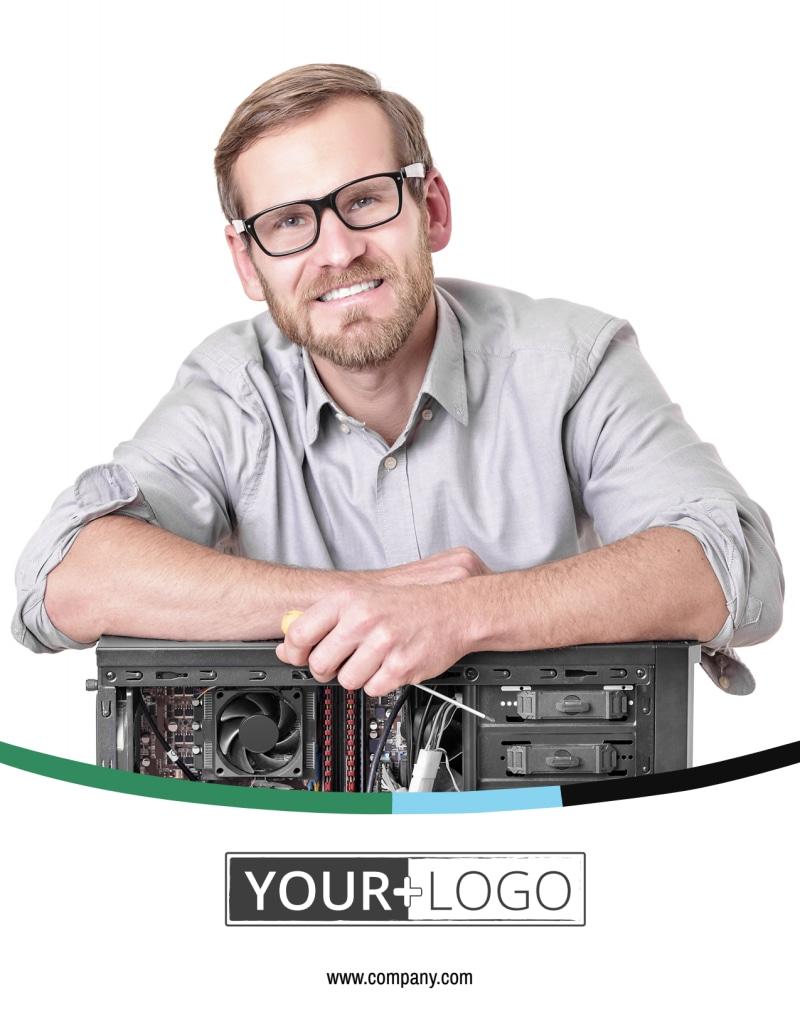 Computer Repair Shop Flyer Template Preview 2
