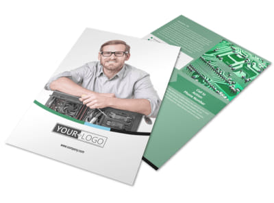Computer Repair Flyer Template preview