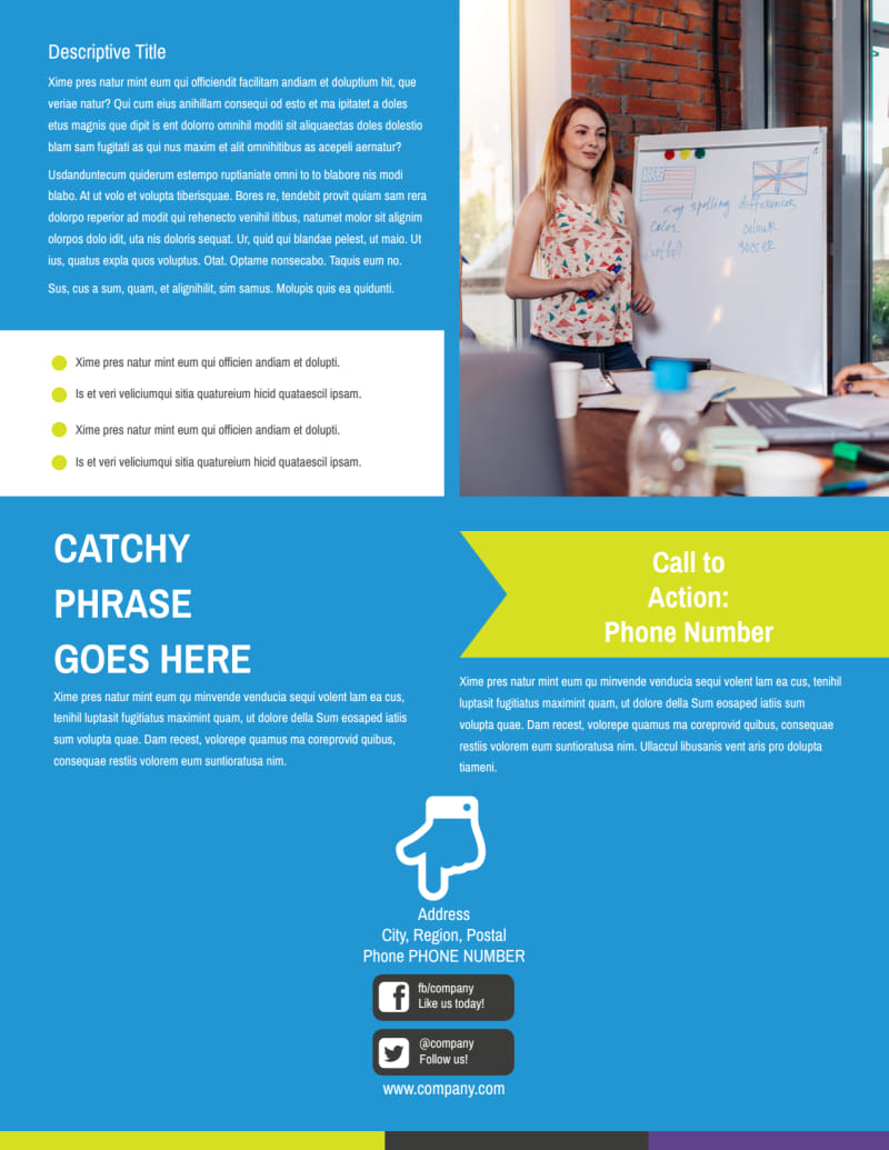 Language Learning Service Flyer Template Preview 3