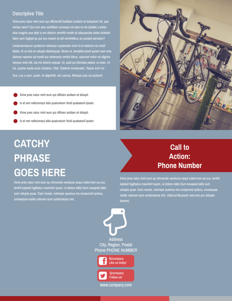 Bike Repair Shop Flyer Template Preview 3