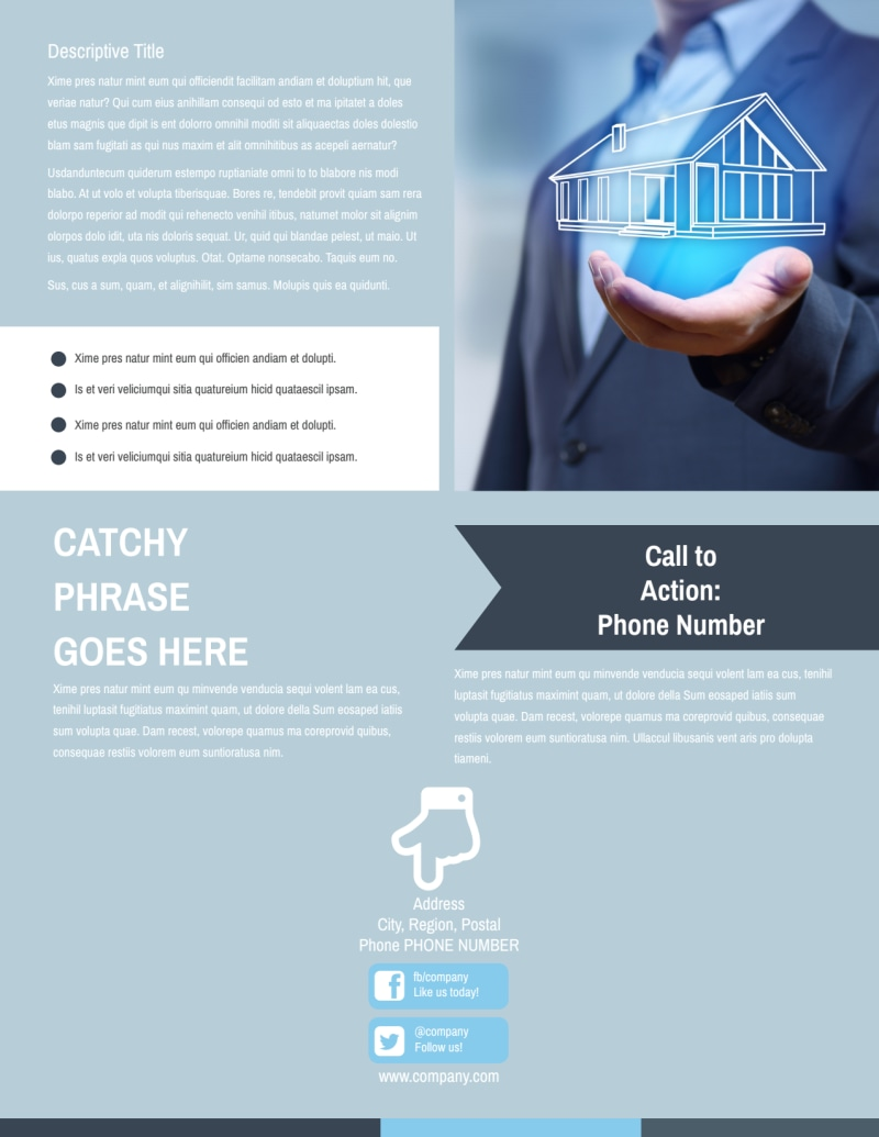 Reliable Property Management Flyer Template Preview 3