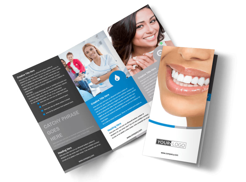 Clean Dental Care Brochure Template Mycreativeshop