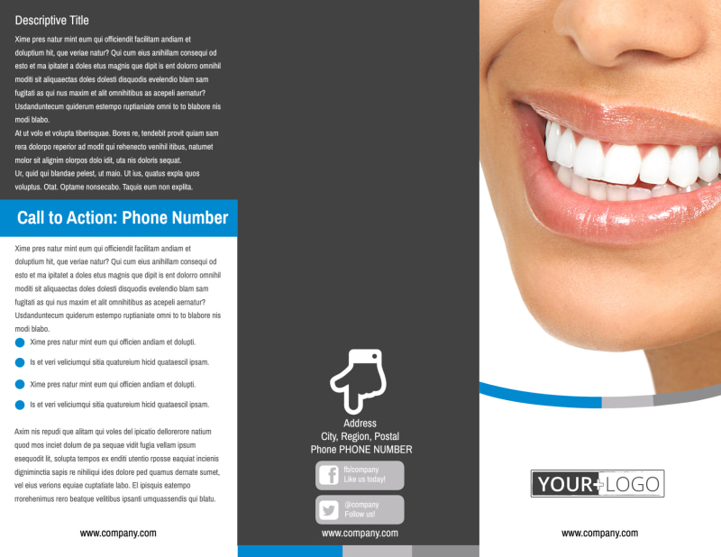 Clean Dental Care Brochure Template Preview 2