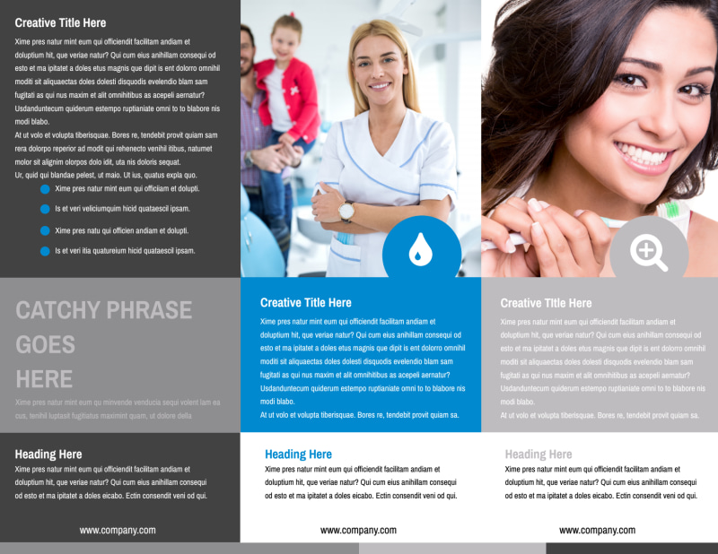 Clean Dental Care Brochure Template Preview 3