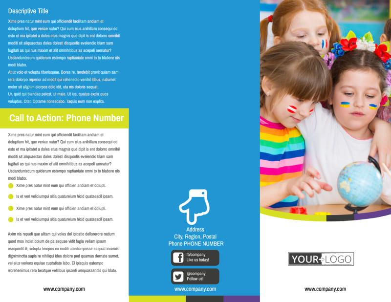 Language Learning Service Brochure Template Preview 2