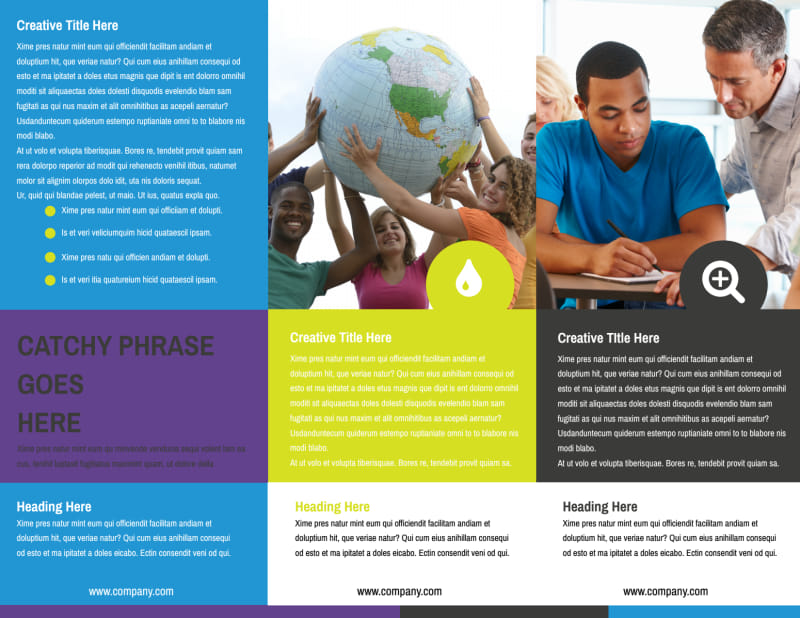 Language Learning Service Brochure Template Preview 3