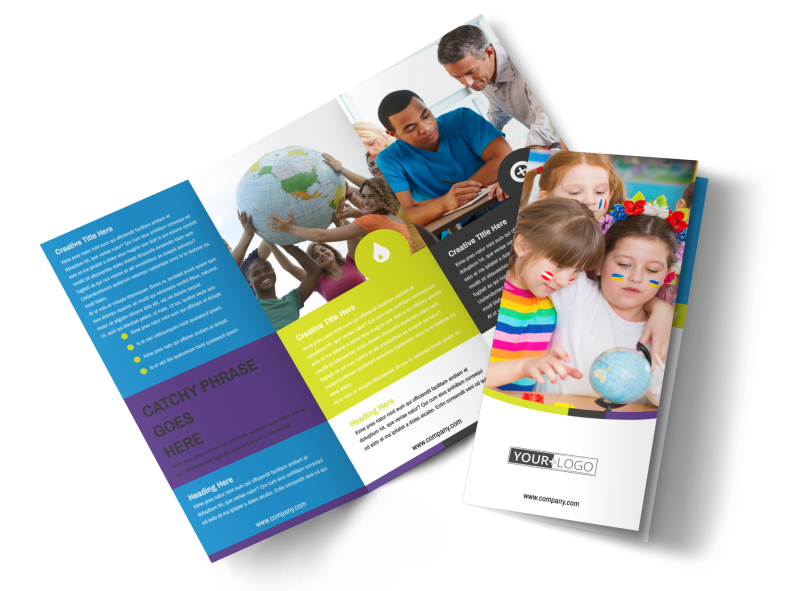 Language Learning Service Brochure Template Preview 1