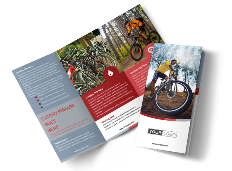Bike Repair Shop Tri-Fold Brochure Template