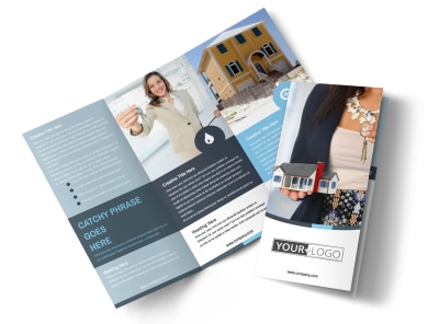 Reliable Property Management Tri-Fold Brochure Template preview