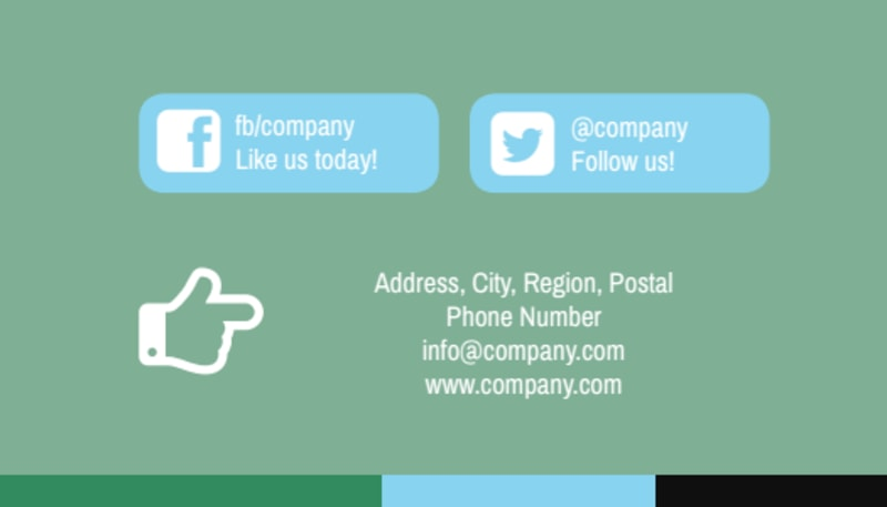 Computer Repair Shop Business Card Template Preview 3