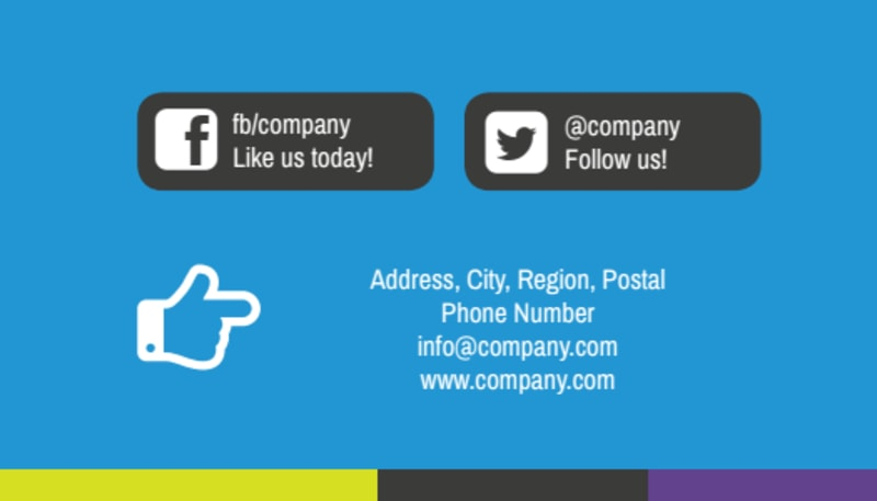 Language Learning Service Business Card Template Preview 3