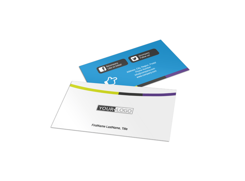Language Learning Service Business Card Template Preview 1