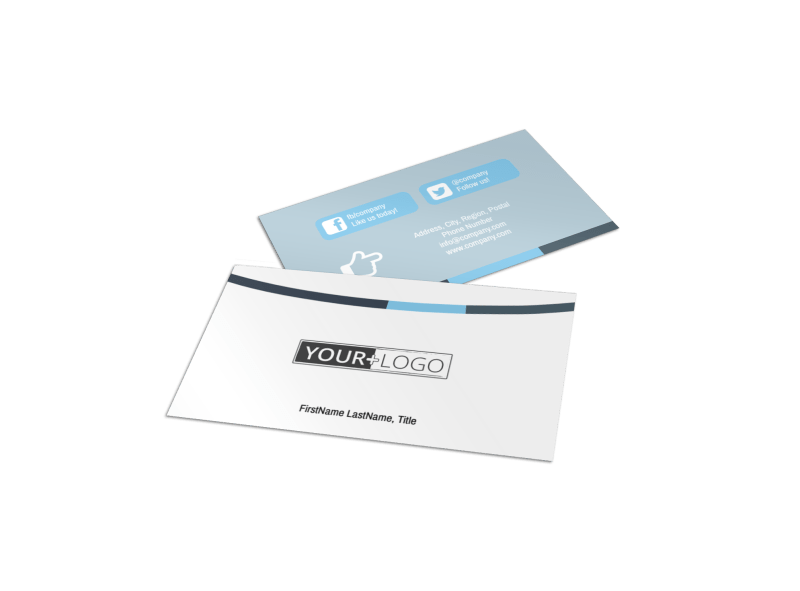 Reliable Property Management Business Card Template Preview 1