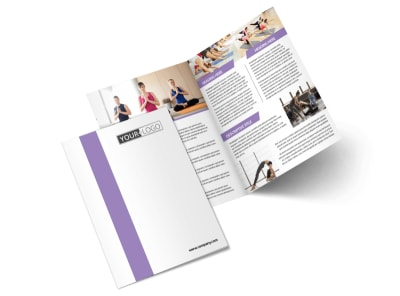 Pilates & Yoga Bi-Fold Brochure Template 2