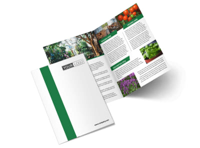Greenhouse Bi-Fold Brochure Template 2