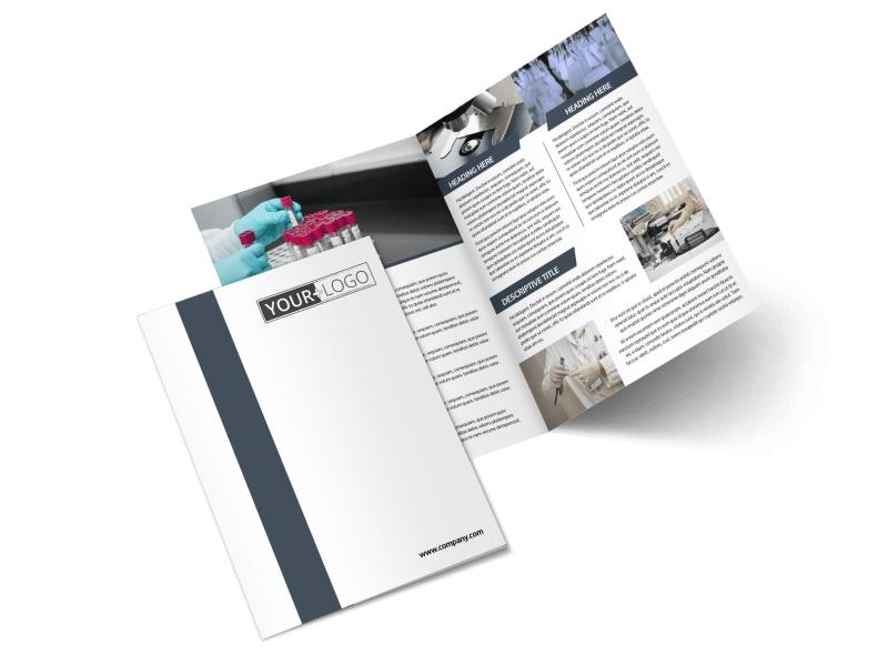 Chemistry Screening Library Bi-Fold Brochure Template 2