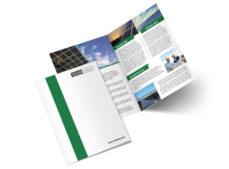 Solar Energy Company Bi-Fold Brochure Template 2