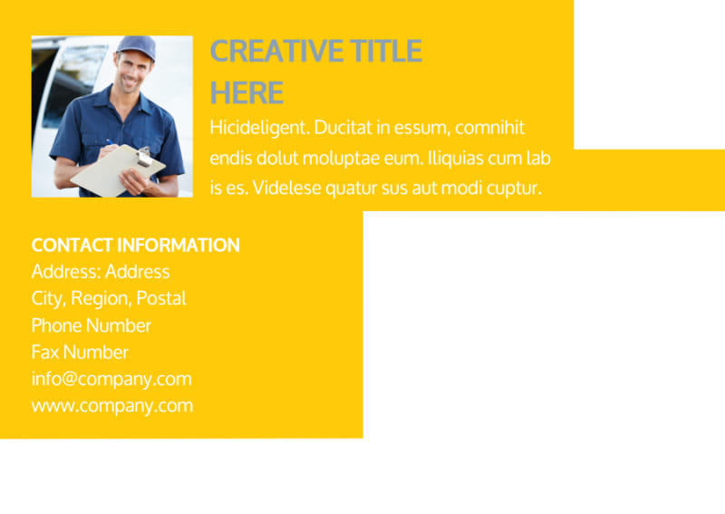 Electrician Postcard Template Preview 3