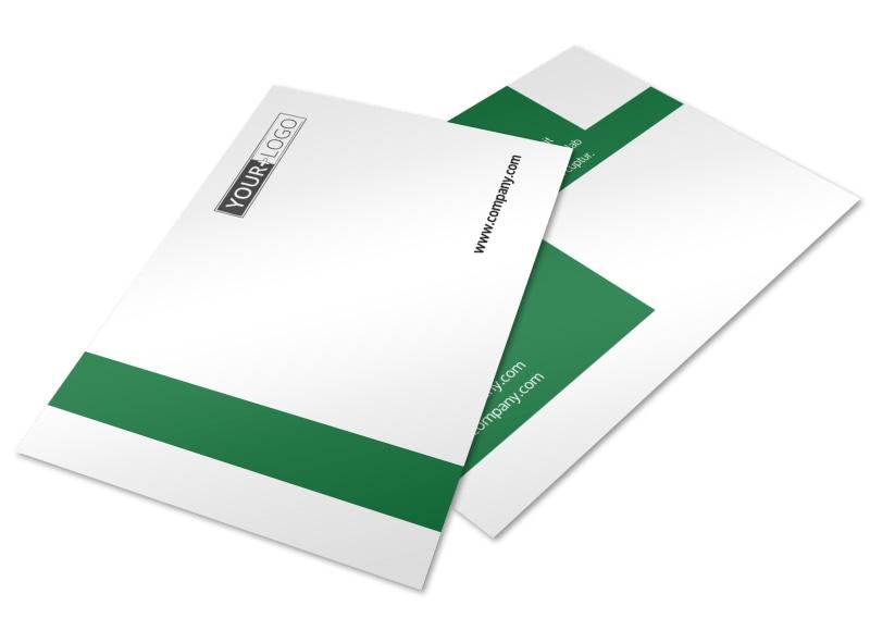 Solar Energy Company Postcard Template 2