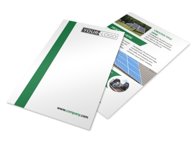 Solar Energy Company Flyer Template 3