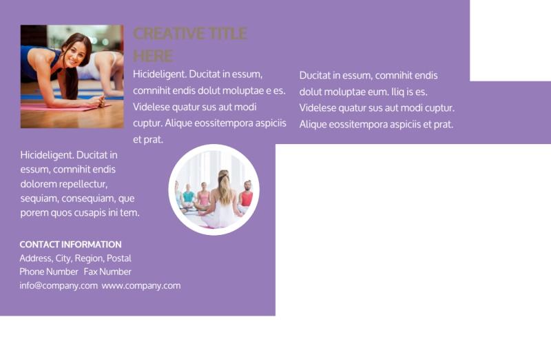 Yoga Studio Postcard Template Preview 3