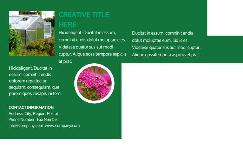 Greenhouse Postcard Template Preview 3