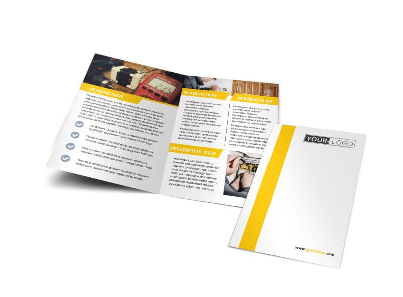 Electrician Bi-Fold Brochure Template
