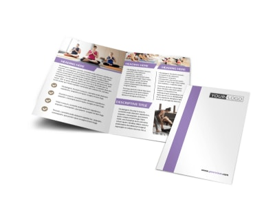 Pilates & Yoga Bi-Fold Brochure Template preview
