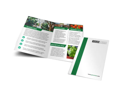 Greenhouse Bi-Fold Brochure Template
