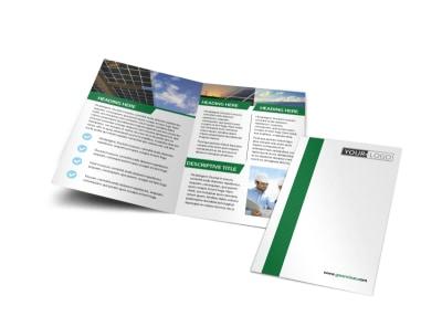 Solar Energy Company Bi-Fold Brochure Template preview