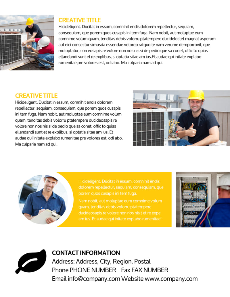 Electrician Flyer Template Preview 3