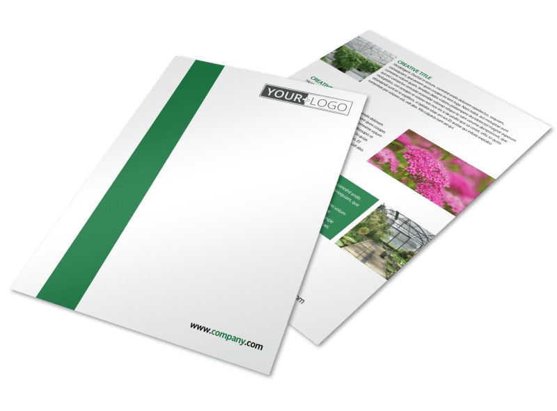 Greenhouse Flyer Template