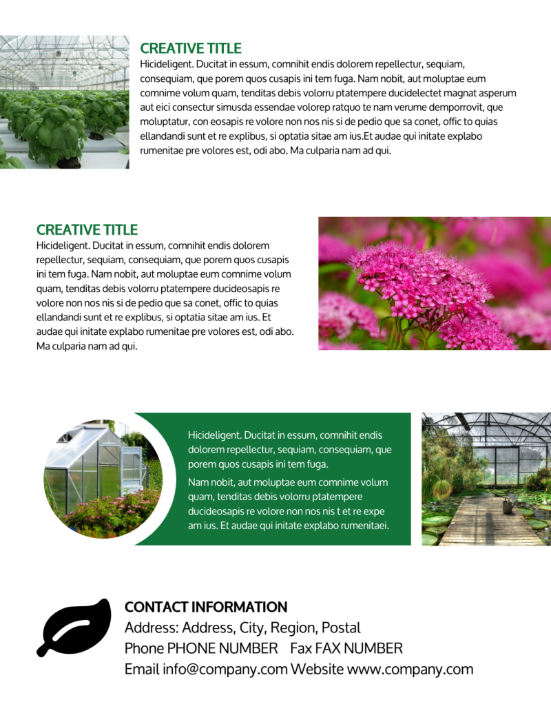 Greenhouse Flyer Template Preview 3
