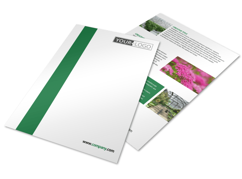Greenhouse Flyer Template Preview 1