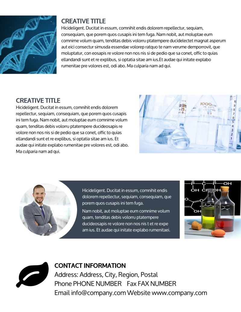 Chemistry Screening Library Flyer Template Preview 3
