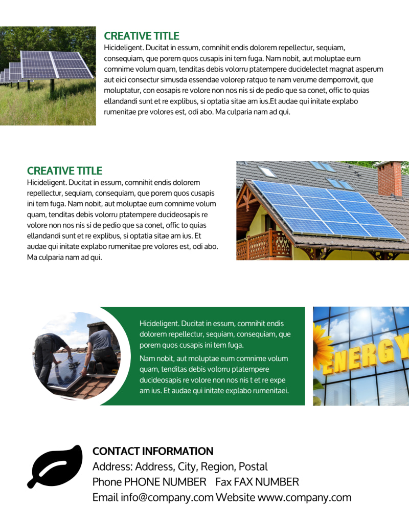 Solar Energy Company Flyer Template Preview 3