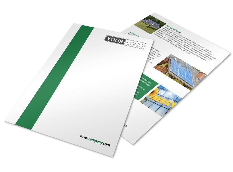 Solar Energy Company Flyer Template Preview 1