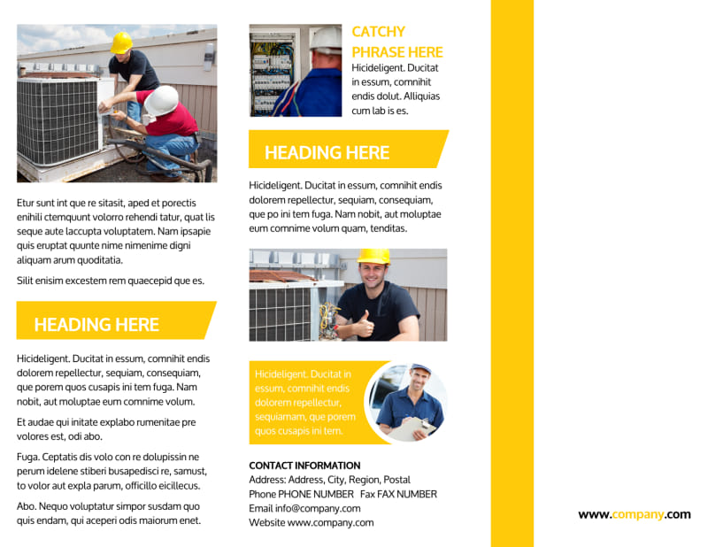 Electrician Brochure Template Preview 2