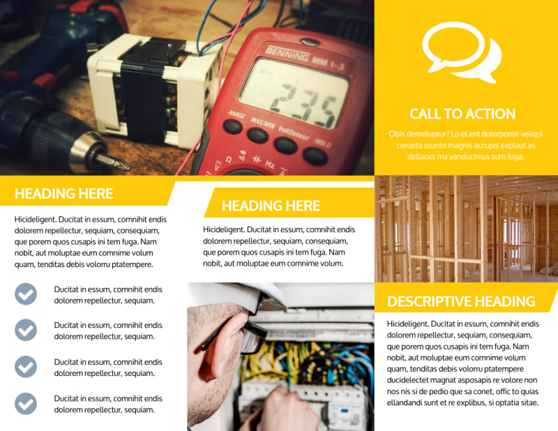 Electrician Brochure Template Preview 3