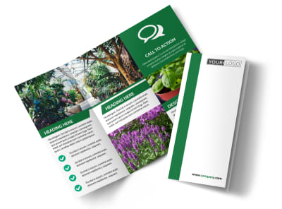 Greenhouse Tri-Fold Brochure Template preview