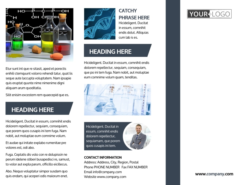 Chemistry Screening Library Brochure Template Preview 2
