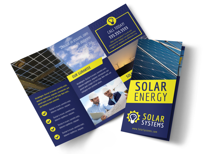Solar Energy Company Brochure Template  Mycreativeshop
