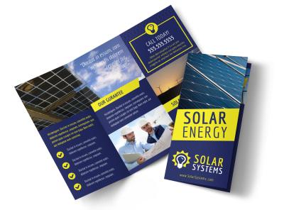 Solar Energy Company Tri-Fold Brochure Template preview